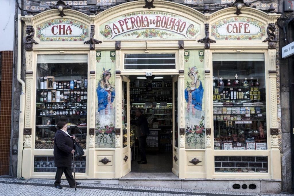 Art deco facade Porto