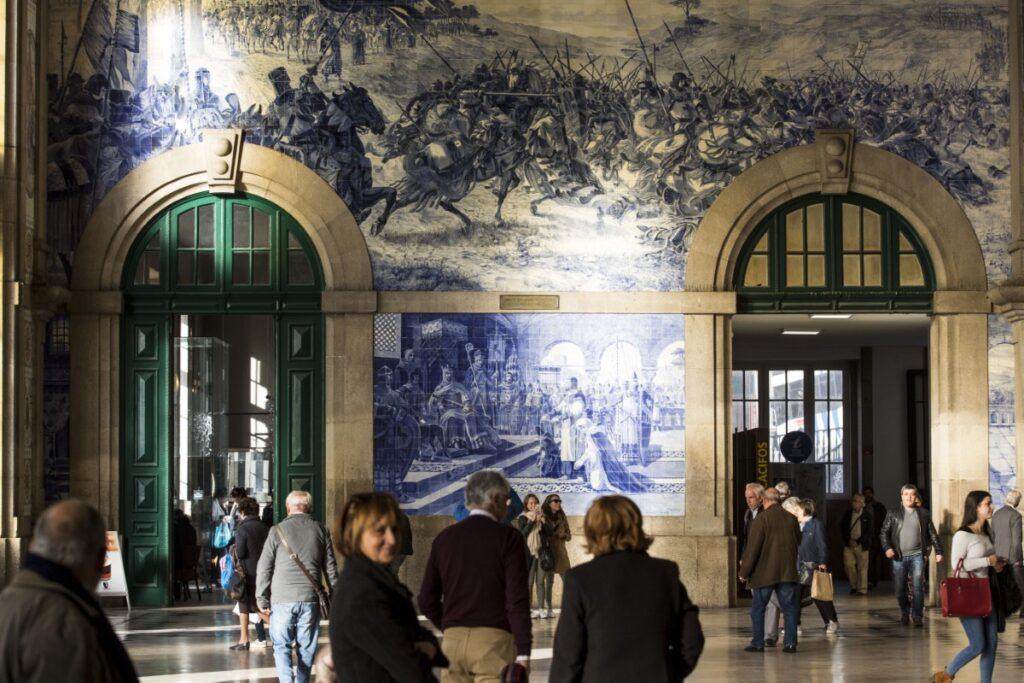 Estacao Sao Bento tiles in Porto