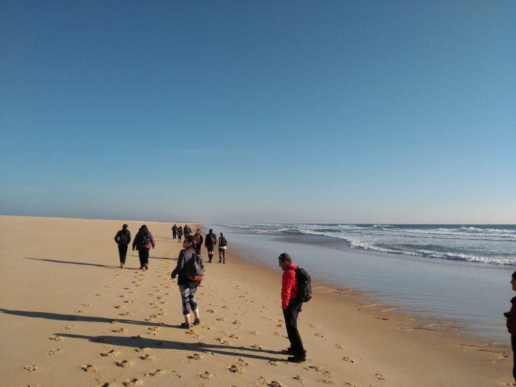 Group Walking in Tavira Island