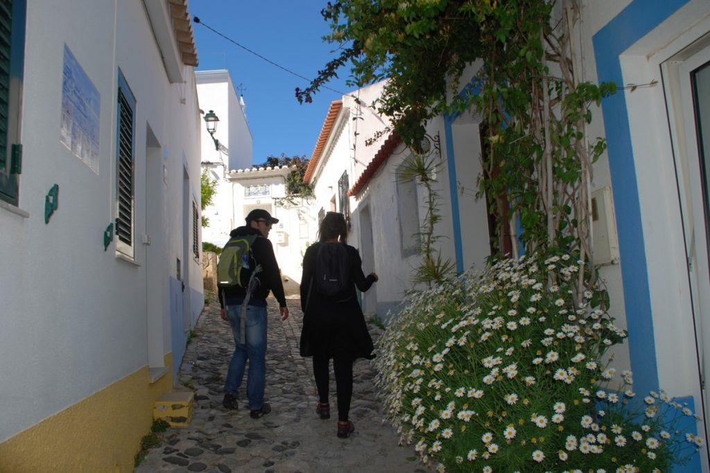 Whitewashed walls west Algarve village