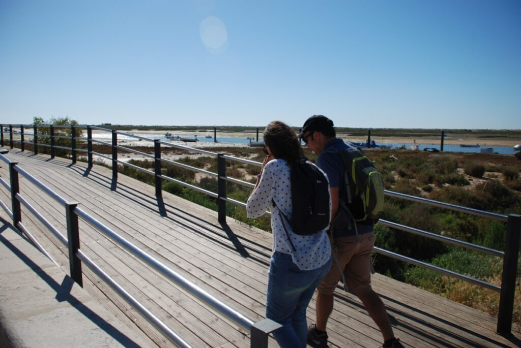 Walking in Cabanas de Tavira along the Ria Formosa