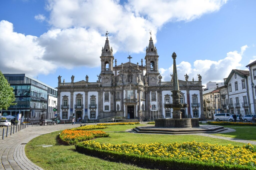 Braga founded in 16 BC as Bracara Augusta in honor of the Roman emperor Augustus (27 BC-14 AD)