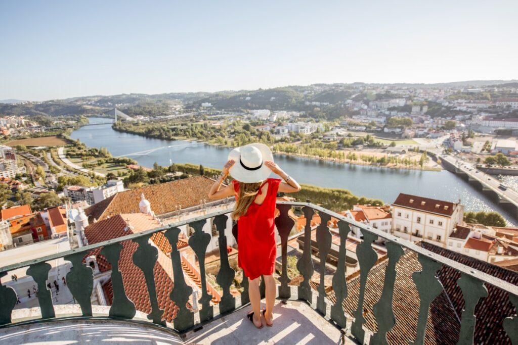Coimbra, view to the Mondego river