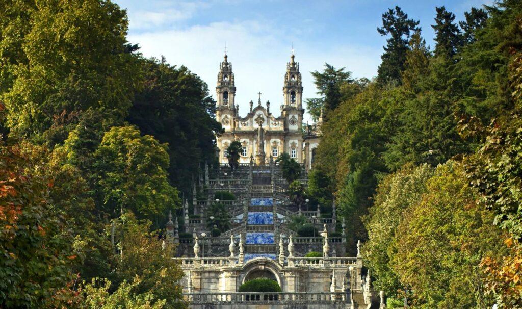 Lamego The sanctuary of Nossa Senhora dos Remédios dominates the town.
